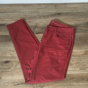 Simply Vera Wang Burgundy Skinny Stretch SoftJeans